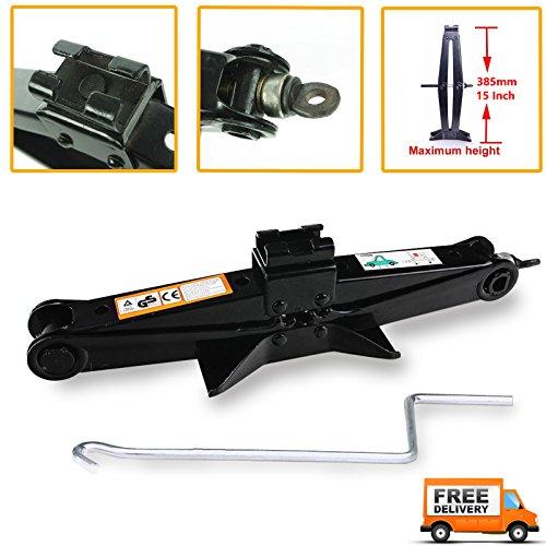 2 Ton Scissor Jack Hand Screw Garage Leveling Jack Steel Rustproof with Chromed Crank Handle for Car Van Emergency