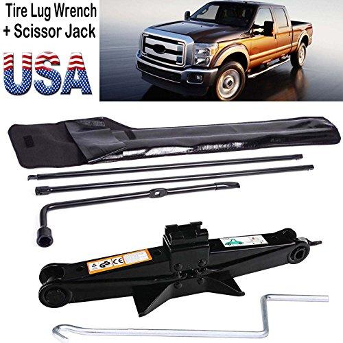 Super Duty Lug Nut Wrench 2 Ton Scissor Jack Tire Wheel Repair Tool Kit For Ford 2003-2007 F250 F350 F450 F550