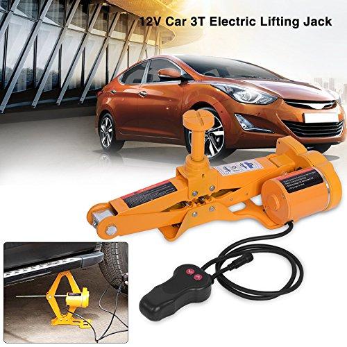 Car Electric Jack-3Ton 12V DC Automotive Car Electric Jack Lifting SUV Van Garage and Emergency Equipment
