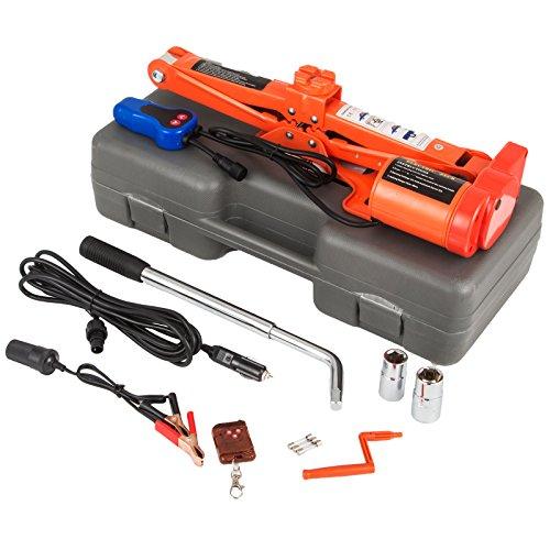 Mophorn 12V DC Electric Scissor Jack 3 Ton 6000LBS Automatic Electric Car Jack 120-450mm Remote Control Scissor Lift Jack 3T 6600LBS No Wrench