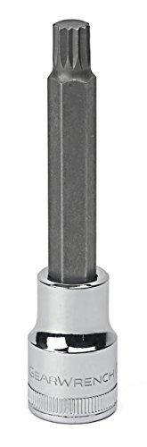 GearWrench 80170D 14 Drive Stubby Triple Square Bit Metric Socket 8mm Black
