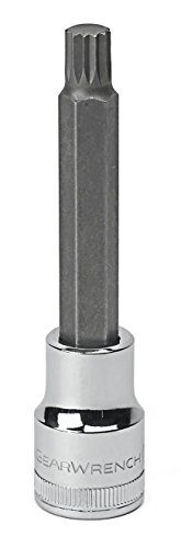 GearWrench 80665 12 Drive Extra Long Triple Square Bit Metric Socket 10mm Black