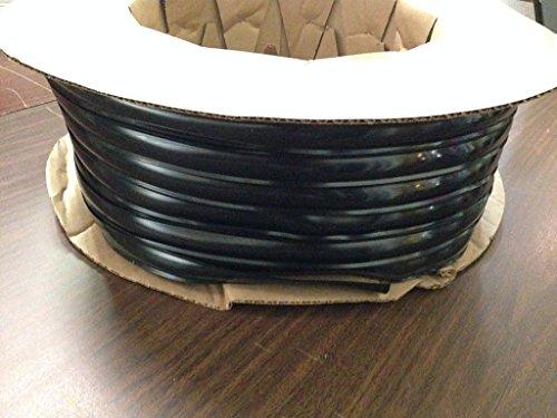 Black Vinyl 1 Insert Molding Trim Screw Cover RV Camper Travel Trailer Black 100 ft