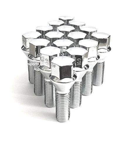 12x125 Acorn Lug Bolt Chrome Heat Treated Conical Seat OEM 12mmx125 Thread Size 17mm Hex 20 Pieces 28mm Shank