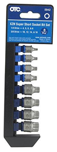OTC 5942 8-Piece XZN Super Short Socket Bit Set