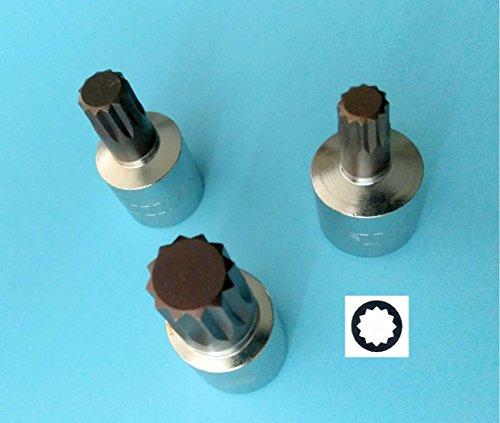 Set M4 M5 M6 XZN 12 Point Socket Tools 3 4mm 5mm 6mm