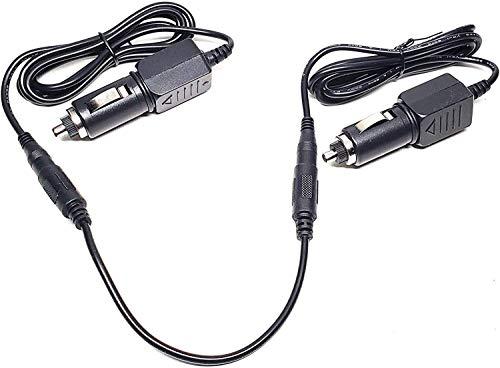 Car 2 Cigarette Lighter Plug DC Adapter for EverStart MAXX 1200 Peak AMPS Jump Starter with Air Compressor and Inverter Ever Start 1200A 600A Jumpstarter Box Lot 11480 Power Supply Cord