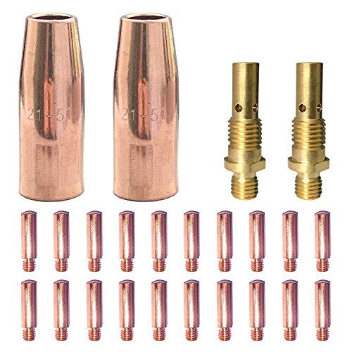 Mig Welding gun accessory 0035 kit for Lincoln Magnum 100L or Tweco Mini1 Mig gun 20pcs Contact Tips 11-35 0035  2pcs gas nozzles 21-50 12  2pcs gas diffusers 35-50