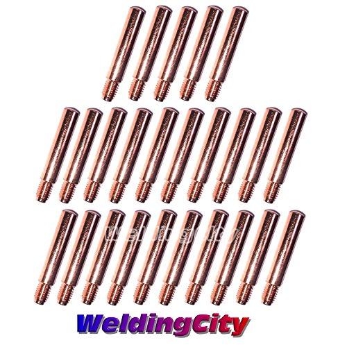WeldingCity 25-pk MIG Welding Contact Tip 14-35 0035 for Lincoln Tweco MIG Guns 200-400A or No2-No4