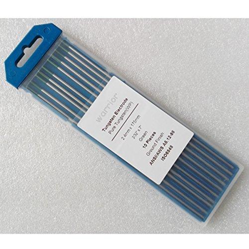 Warrior WP Green Tip 332x7 Pure Tungsten Electrode 24175mm 10Pcs
