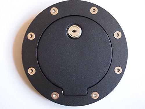 Locking Black Billet Gas Fuel filler Cap Door Cover for Chevrolet Cadillac GMC Yuko