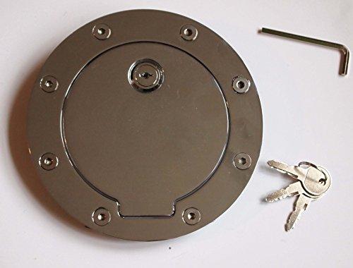 Locking Chrome Billet Gas Fuel filler Cap Door Cover for Chevrolet Cadillac GMC Yuko