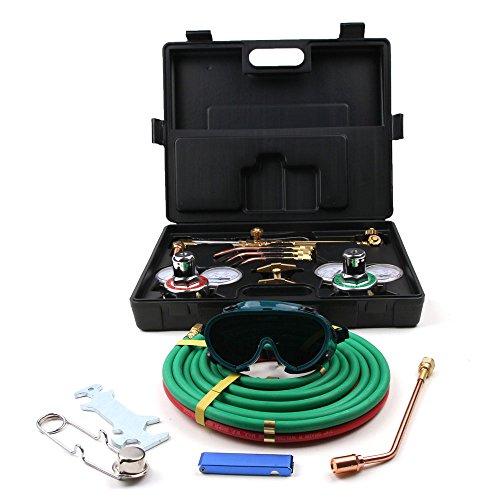 Welding Cutting KitFULIME Professional Portable Gas Welding Cutting Torch Kit w Hose Oxy Acetylene Brazing Professional Set with Case - Oxygen Acetylen Oxy Gas Welding Cutting Kit