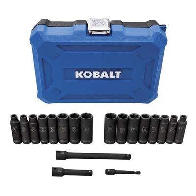 Kobalt 19pc 38-in Drive 6-Point Thin-Wall Impact Socket Set MMSAE