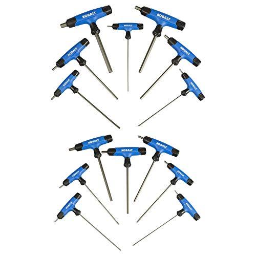 Kobalt 759896 14-Piece T-Handle Hex Key Set InchMetric