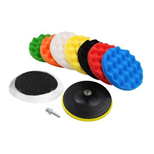 10 Pcs Sponge Polishing Buffing Waxing Pad Kit for Car Polisher Buffer With Drill Adapter 3寸