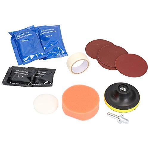 Headlight Restoration Restoring Polishing Buffing Sealing Kit Scratch Remover