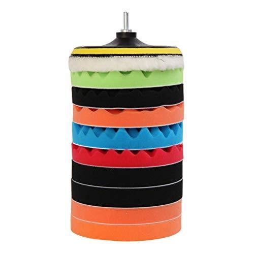 LIOOBO 12 pcs car Drill polishing pad kit Buffing Sponge Pads 7 inch
