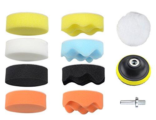 WGCD 11 PCS 3 Sponge Polishing Pad Waxing Buffing Pad Kit for Car Polisher