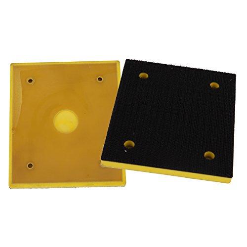 Valianto 110x100mm Square Hook&Loop Backing Pads Polishing Disc Pack of 5PCS