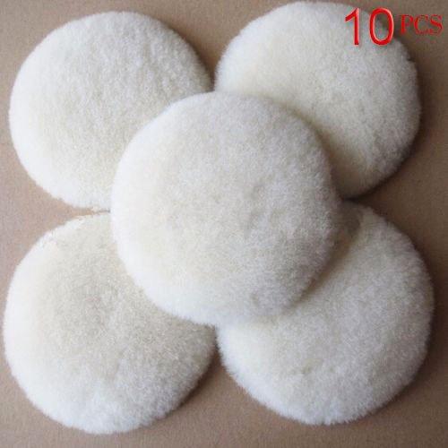 Wool Buffing Pad Car Detailing Polishing Backing Buffer 3 - 10PCS
