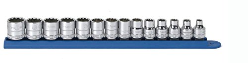 GearWrench 80560 14 Piece 38-Inch Drive 12 Point Standard Metric Socket Set