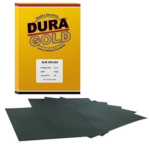 DURA-GOLD 600 Grit 9x11 Wet or Dry Sand Sandpaper-Box