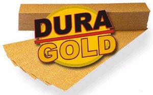 DURA-GOLD 80 Grit 2-34 x 16 12 PSA Sandpaper Sheets