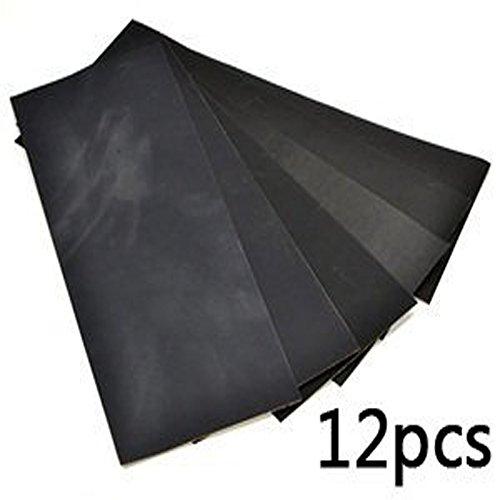 Vanki Pack of 12 Sandpaper abrasive drywet paper Sheets 400600800100012001500 Grit 9 x 36 hobby tool