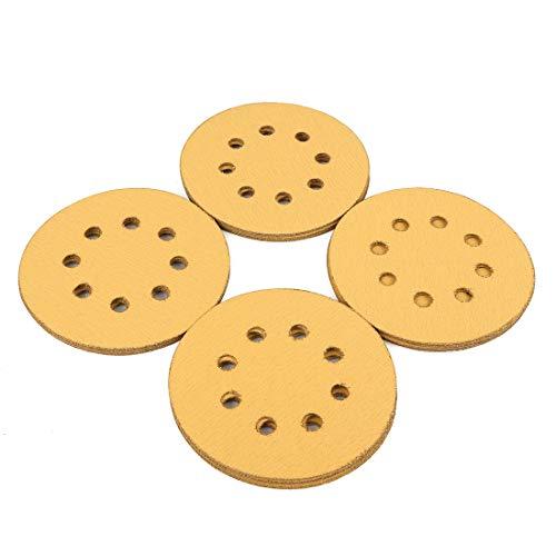 uxcell 20 Pcs 5 Inch 8 Hole Hook and Loop Sanding Discs Sander Pads 120 Grit Sandpaper