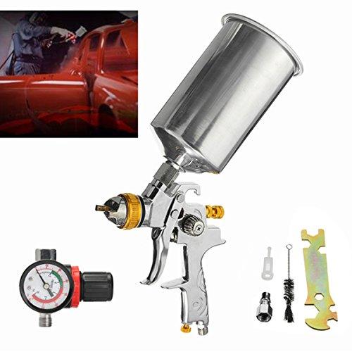 1000CC 14inch 13mm HVLP Gravity Feed Spray Gun Auto Paint Basecoat Regulator