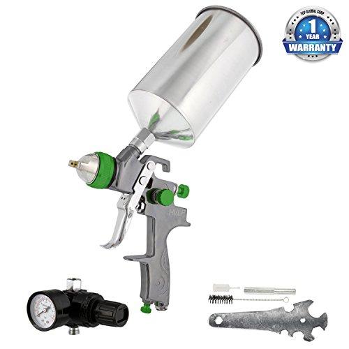 TCP Global Brand Professional New 25mm Hvlp Spray Gun-auto Paint Primer-metal Flake with Air Regulator