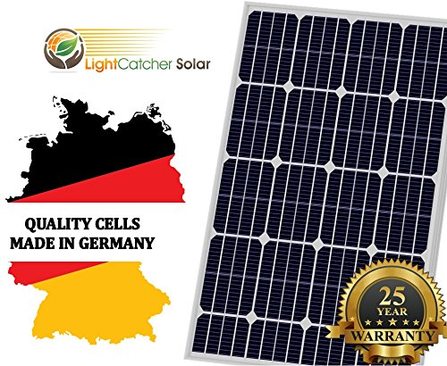 LightCatcher 100 Watts 12 Volts Monocrystalline Solar Panel