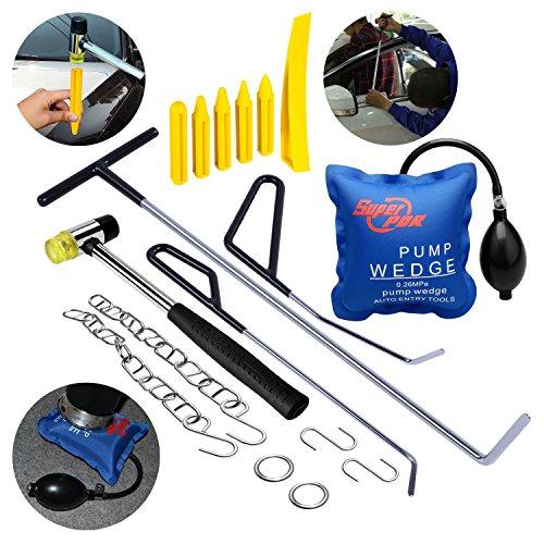 Paintless Dent Repair Tools Kit AUTOPDR 17Pcs DIY Auto Dent Puller Kit Automotive Door Ding Dent Puller Suction Cup For Car Hail Damage And Door Dings Repair