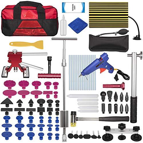 Yoursme Car Dent Repair Removal Tools Auto Paintless Dent Puller Kit Slide Hammer Glue Puller Repair Starter Set for Hail Damage Door Ding Repair 100pcs