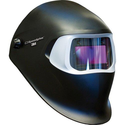 3M Speedglas Black Welding Helmet 100 with Auto-Darkening Filter 100V- Shades 8-12 Model 07-0012-31BL
