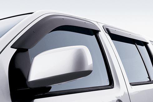 2010-2013 Nissan Frontier Crew Cab Side Window Deflectors Front and Rear Set  4-Piece 999D3-BT001CC