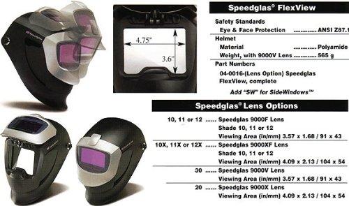 Dwos Speedglas Flexview Helmet WSide Windows