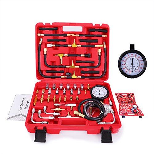 BETOOLL Pro Fuel Injection Pressure Tester Kit Gauge 0-140 PSI