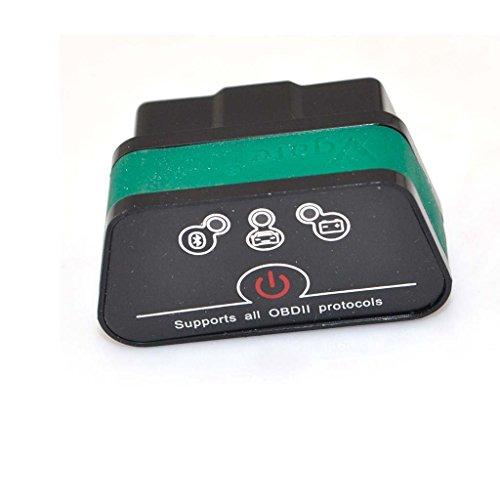 Vgate Icar2 Bluetooth Scanner Car OBDII Code Reader With Color Black and Green