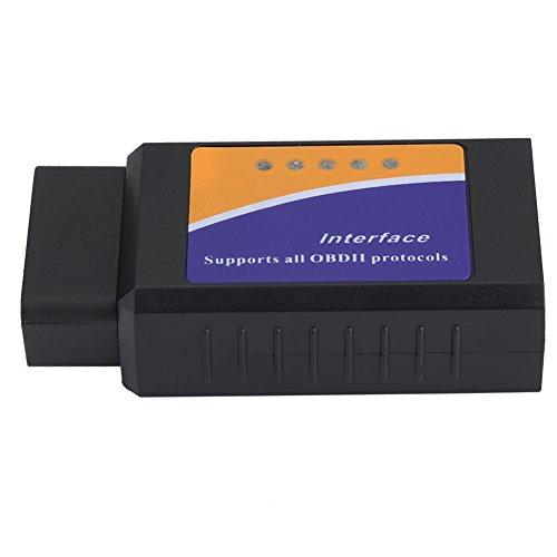 Qiilu Mini Wireless V21 OBD2 OBDII Car Auto Mini Bluetooth Diagnostic Interface Scanner Tool