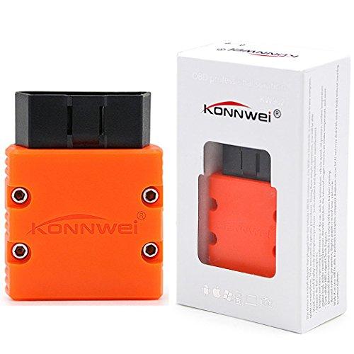 Konnwei KW902 mini ELM327 Bluetooth wireless OBDII Car Diagnostic Scan Tool Elm 327 OBD2 code reader Support J1805 ProtocolOrange