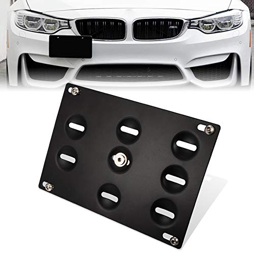 GTP Front Bumper Tow Hook License Plate Mounting Bracket Holder Relocator for BMW 12-18 F30F31 3 Series 4DR14-up F32 F33 F36 4 Series 11-18 F10 G30 5 Series Z411-19 Mini Cooper F55 F56