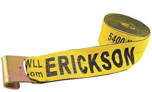 Erickson 58800 Yellow 4 x 30 Winch Strap with Flat Hook