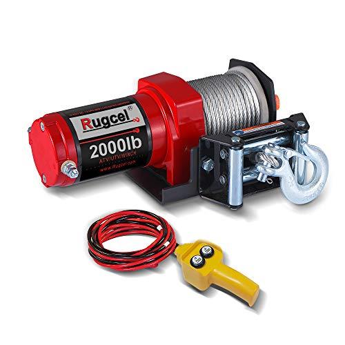 RUGCEL Electric 12V 2000lb907kg Single Line Waterproof Winch