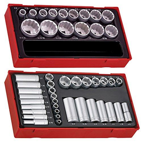 Teng Tools 47 Piece Mixed Drive AF Socket Set