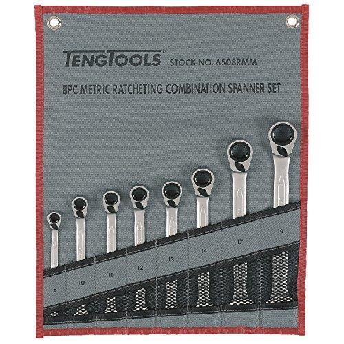 Teng Tools 6508RMM - 8 Piece Ratchet Spanner Set 8 - 19mm