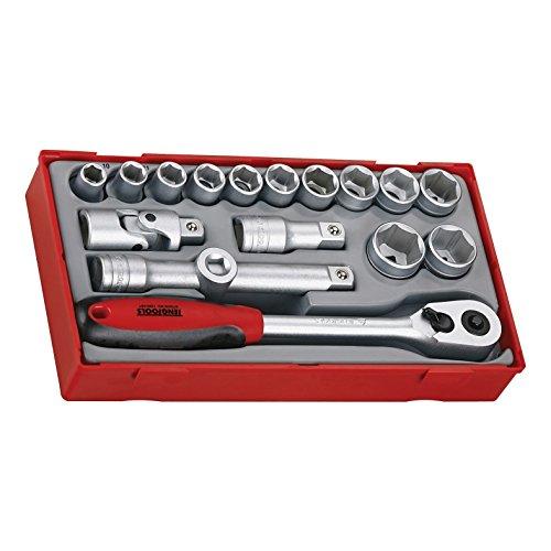 Teng Tools TT1218-6 - 18 Piece 12 inch Drive 6 Point Socket Set