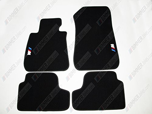 NEW CAR FLOOR MATS BLACK with M EMBLEM for BMW 3 series E93 Cabrio 2006 - 2013