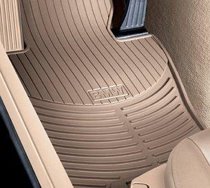 BMW All Weather Rubber Floor Mats Front- Beige Set of 2 - 3 Series Convertible 2005-2006